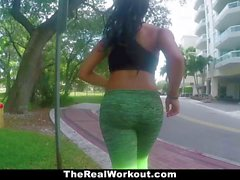 TheRealWorkout Curvy Teen Fucked After Workout