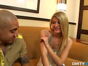 Amanda is a hot cocktail waitress in a local strip club and