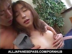 Haruka Hoshikawa gets fingers and sucked tool in hairy cooter