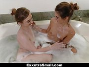 ExxxtraSmall - Cute Teens Share Massive Load
