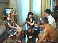 Strip poker leads to sexy swinging