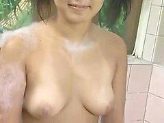 Hidden Camera Installed In A Japanese Shower Room