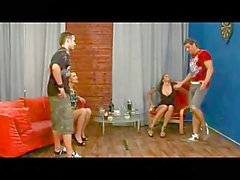 Boys strapon fucked by a girl in miniskirt
