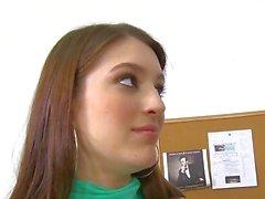 InnocentHigh Sexy brunette Small tits schoolgirl teen Zarena Summers fucks prof