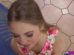 Heeled teen blows old rod