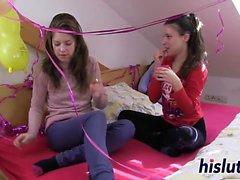 Anita and Suzi experiment with lesbian sex