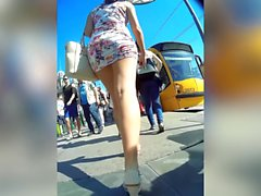 sluty dressed teen in public