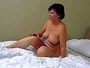 OldNanny Granny with pretty girl masturbating puss