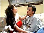 Smoking hot busty teen banged hard on the sofa