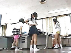 Japanese schoolgirls medical checking, part 1