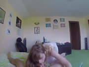 POV shy teen fucked while parents are home