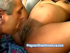 Young pregnant slut polishes her lover's big cock
