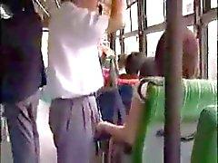 Woman grope a man bus