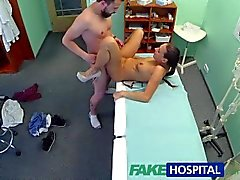FakeHospital Brunette wearing tight fit nurse outfit fucks her patient