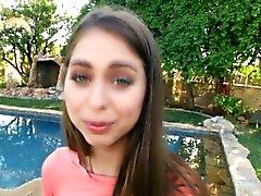 Interracial outdoor teen showing tits