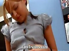 Ivana teen goes analhole at office