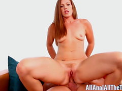 Tall Ginger Ivy Gets fucked in Ass For First Time!