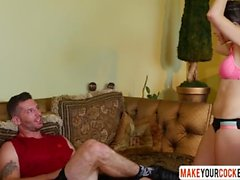 Son Fucks Mom Judy Jolie After Workout