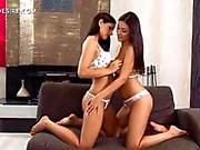 lesbo beauties touching bodies and kissing with lust feature