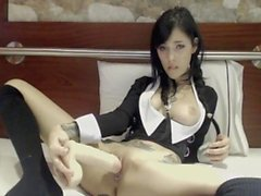 wednesday addams cosplay huge toy cum