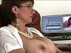 Mature british whore tugs and gets cum