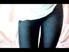 Blue-eyed girl exhibits it on cam and includes a reddish va