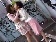 Two enchanting Japanese girls relishing the pleasures of le