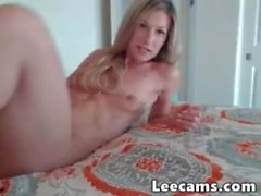 Hot blonde dildo masturbate