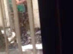 19 Teen and not her mom window peep
