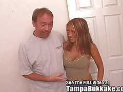 Krysta's Tampa Bukkake Tryout With Dirty D