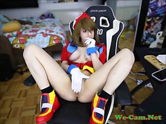 White teen include fake tits webcamsex