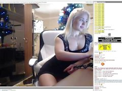 Chaturbate - Young blonde uses Ohmibod in the Office and on Phone