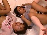 Two Petite Jav Teen Schoolgirls Gangbang And Cumshots