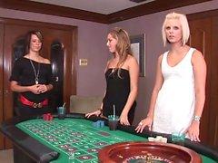 Casino babes show some hot skin