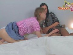 StraponCum: Anal Pantyhose. Part 1 of 4. The black pantyhose bring out...
