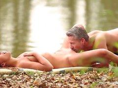 Stunning Natural Czech Teen at the lake