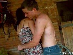 Amateur barn xxx show