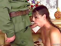 Girl gets fucked rough by an older man