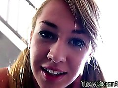 Teen babysitter jizzed on