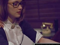 TEENFIDELITY - Schoolgirl Cutie Alaina Dawson Creampied On The Desk