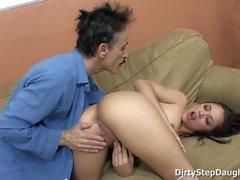 Stepdaughter Kristina Rose Caught Daddy Watching Porn