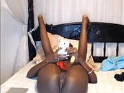 Amateur teen girl toying her ass and pussy on webcam