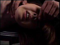 Helpless Japanese teen with a wonderful ass gets treated li