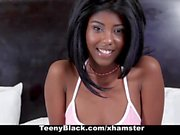 TeenyBlack - Ebony Teen With Perky Tits Gets Pussy Pounded