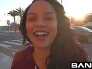 Maya Bijou Petite Ebony Teen Flashes Tits In Public