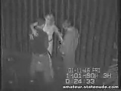Teen Gang Bang On Security Cam