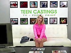 Bright blonde teen going adult