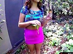 Busty teen Sasha Summers gets her ass slammed good