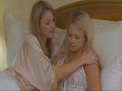 Lesbians seduce and dry humping