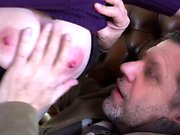 Cute teen with huge tits gets banged hard by old guy
